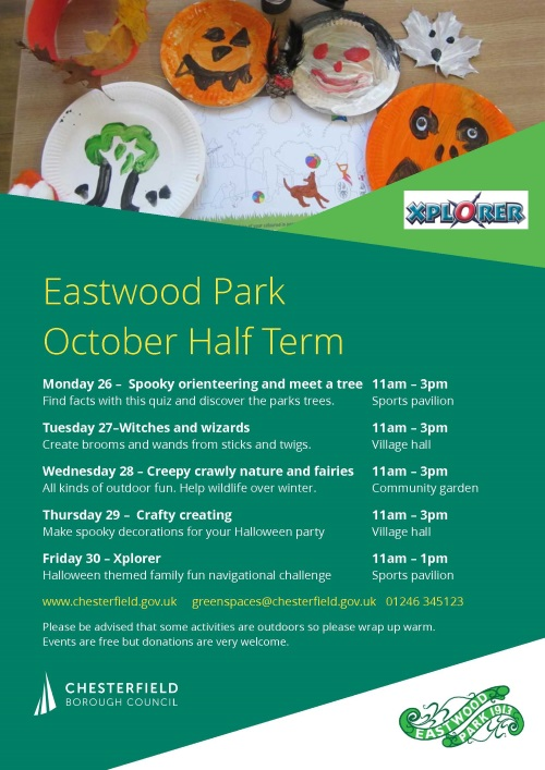 half term events poster